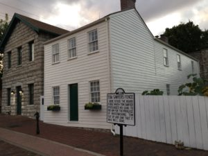 Mark Twain's childhood house and the famous white picket fence...